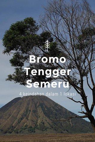 Bromo Tengger Semeru 4 keindahan dalam 1 lokasi
