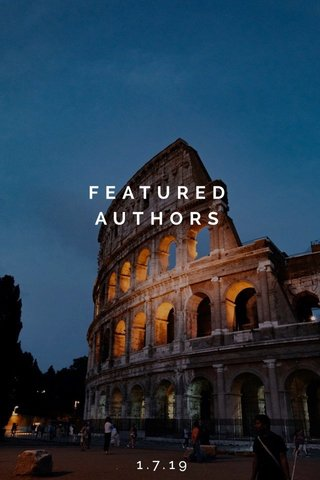 FEATURED AUTHORS 1.7.19