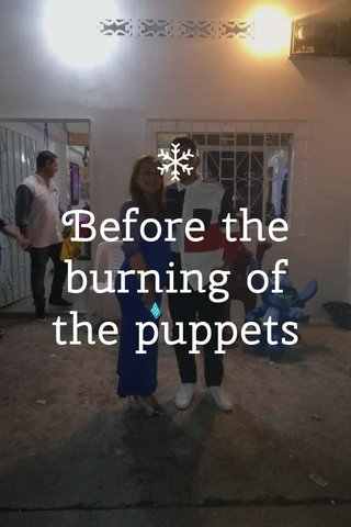 Before the burning of the puppets