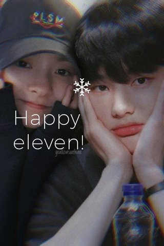 Happy eleven!