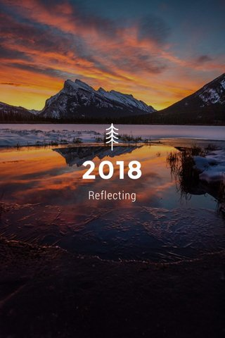 2018 Reflecting