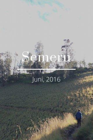 Semeru Juni, 2016