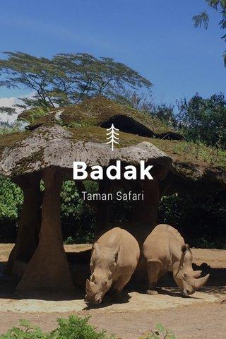 Badak Taman Safari