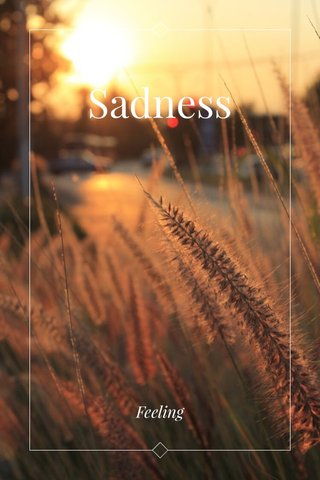 Sadness Feeling