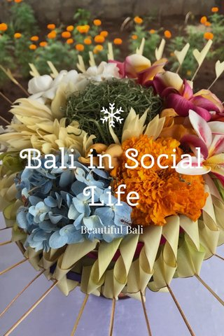 Bali in Social Life Beautiful Bali