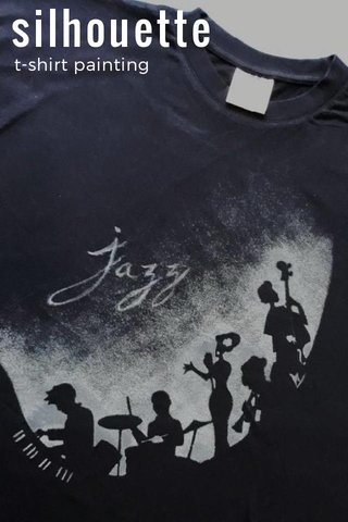 silhouette t-shirt painting