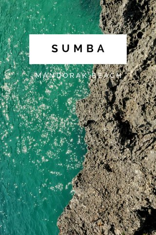 SUMBA MANDORAK BEACH