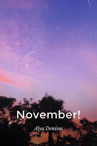 November! Alya Denissa