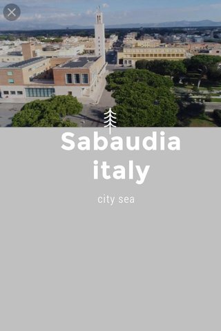 Sabaudia italy city sea