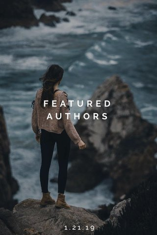 FEATURED AUTHORS 1.21.19