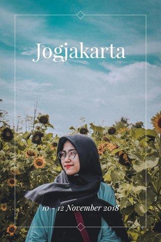Jogjakarta 10 - 12 November 2018