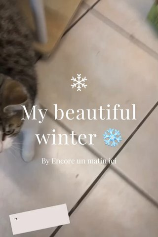 My beautiful winter ❄️ By Encore un matin ici