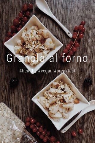 Granola al forno #healthy #vegan #breakfast
