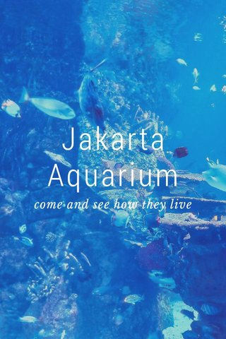 Jakarta Aquarium come and see how they live