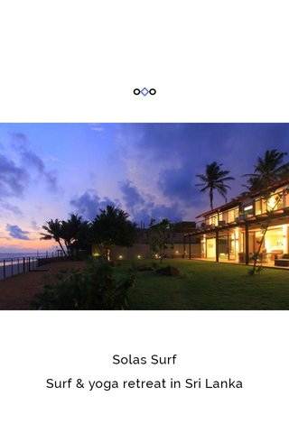 Solas Surf Surf & yoga retreat in Sri Lanka