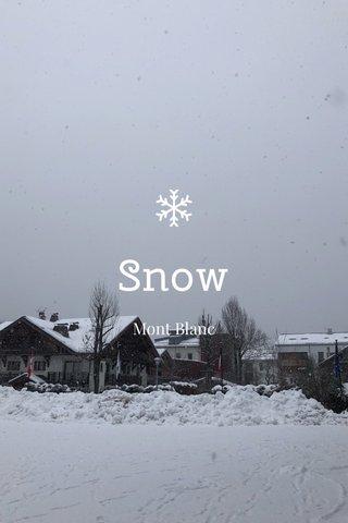 Snow Mont Blanc
