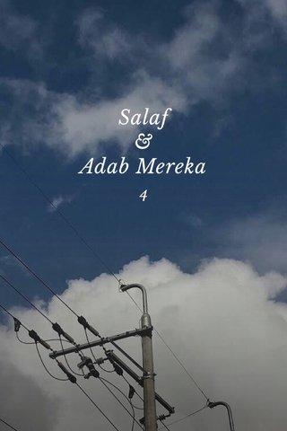 Salaf & Adab Mereka 4
