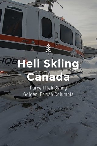 Heli Skiing Canada Purcell Heli Skiing Golden, British Columbia