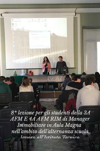 8* lezione per gli studenti della 3A AFM E 4A AFM RIM di Manager Immobiliare in Aula Magna nell'ambito dell'alternanza scuola lavoro all'Istituto Tecnico Economico A. Vespucci di Livorno in collaborazione con Amministratori Professionisti, Apige Smart e Apige Lab (laboratorio di impresa - le idee diventano lavoro) nell'Anno Accademico 2018/2019 giunto al 4* anno consecutivo. DIGITAL MEDIA MARKETING Docente: dr.ssa Tanya Guaida di Roma.