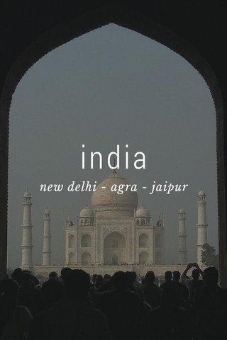 india new delhi - agra - jaipur