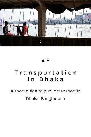 Transportation in Dhaka