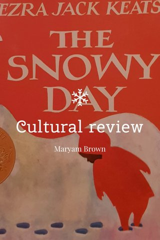 Cultural review Maryam Brown