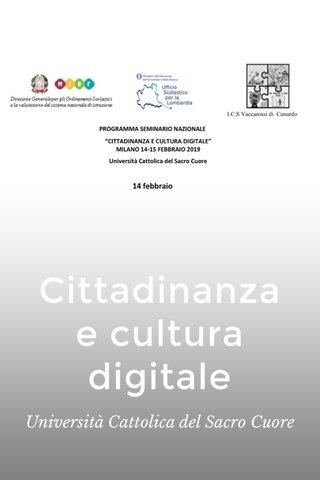 Cittadinanza e cultura digitale Università Cattolica del Sacro Cuore