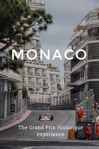 MONACO The Grand Prix Historique experience