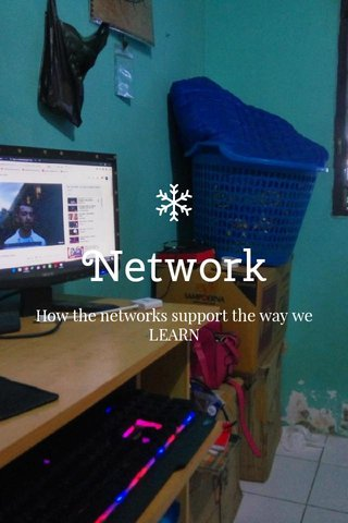 Network How the networks support the way we LEARN