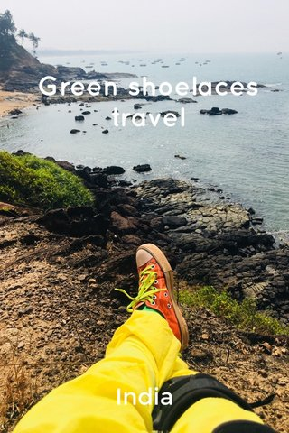Green shoelaces travel India