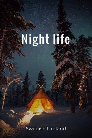 Night life Swedish Lapland