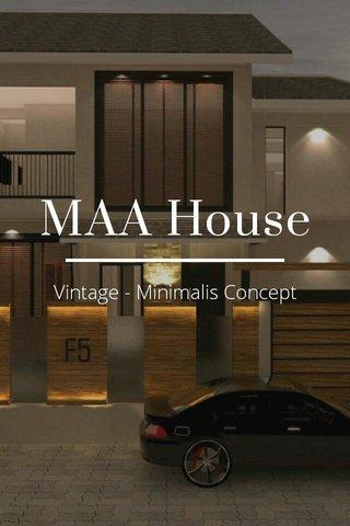 MAA House Vintage - Minimalis Concept