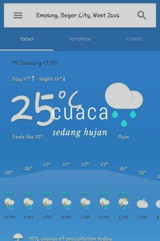 cuaca sedang hujan