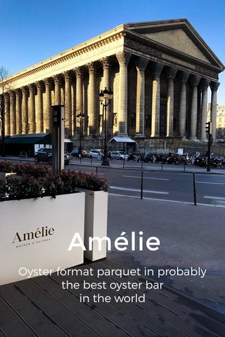 Amélie Oyster format parquet in probably the best oyster bar in the world
