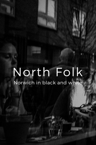 North Folk Norwich in black and white