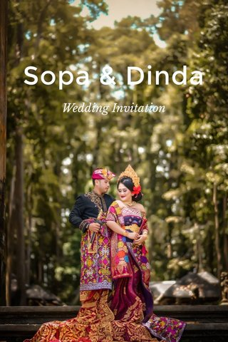 Sopa & Dinda Wedding Invitation