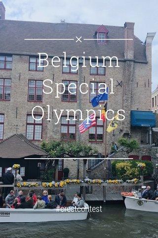 Belgium Special Olympics #crestcontest