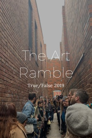 The Art Ramble True/False 2019