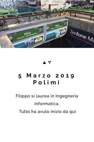 5 Marzo 2019 Polimi
