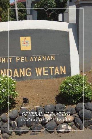GENERAL CLEANSING ULP GONDANG WETAN