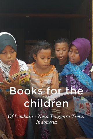 Books for the children Of Lembata - Nusa Tenggara Timur Indonesia