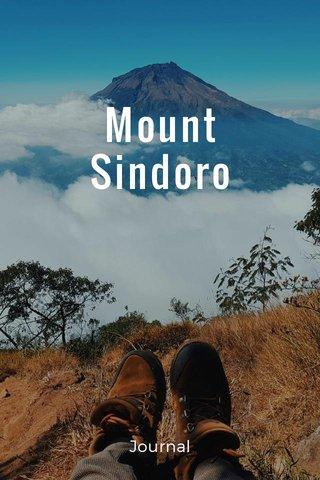 Mount Sindoro Journal