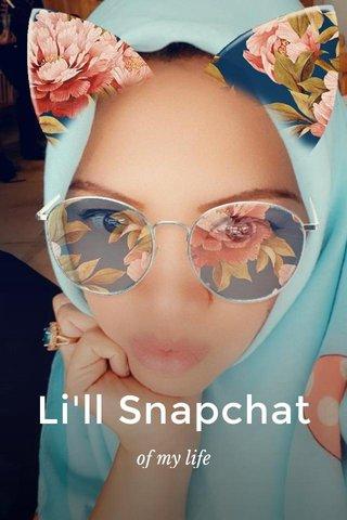 Li'll Snapchat of my life