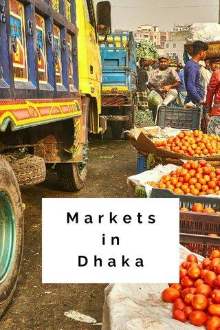 Markets in Dhaka