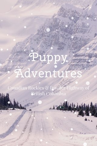 Puppy Adventures Canadian Rockies & Powder Highway of British Columbia