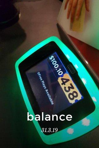 balance 31.3.19