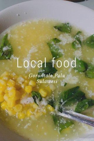 Local food Gorontalo.Palu Sulawesi