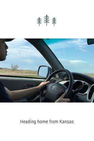 Heading home from Kansas