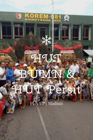 HUT BUMN & HUT Persit PLN UP3 Madiun