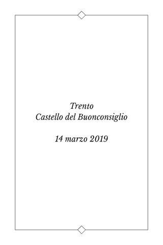 Trento Castello del Buonconsiglio 14 marzo 2019